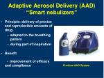 adaptive aerosol delivery aad smart nebulizers