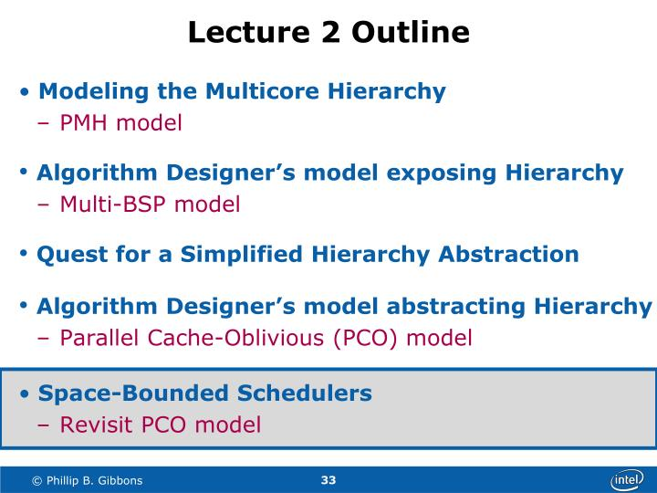 Lecture 2 Outline