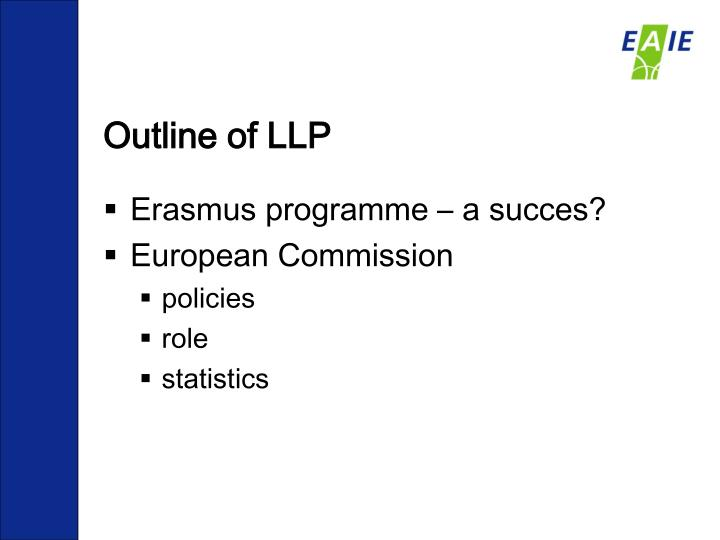 Outline of llp