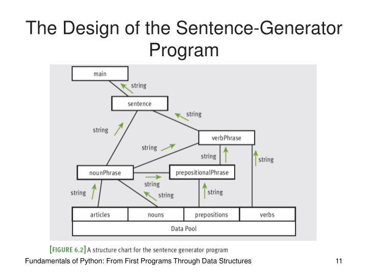 The Design of the Sentence-Generator Program