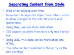 separating content from style