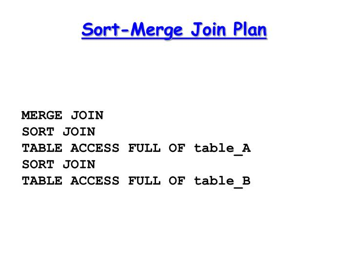 Sort-Merge Join Plan