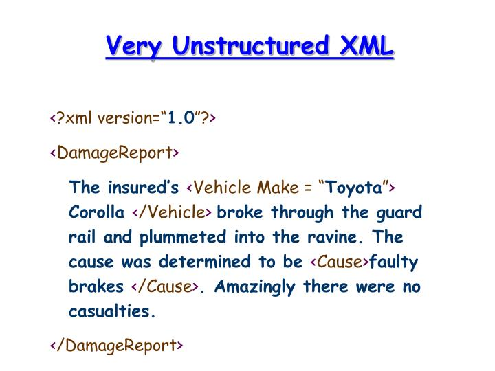 Very Unstructured XML