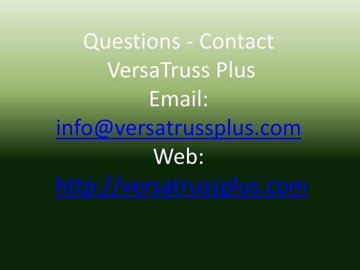Questions - Contact