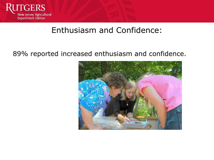 Enthusiasm and Confidence:
