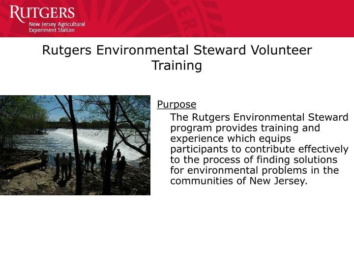 Rutgers environmental steward volunteer training