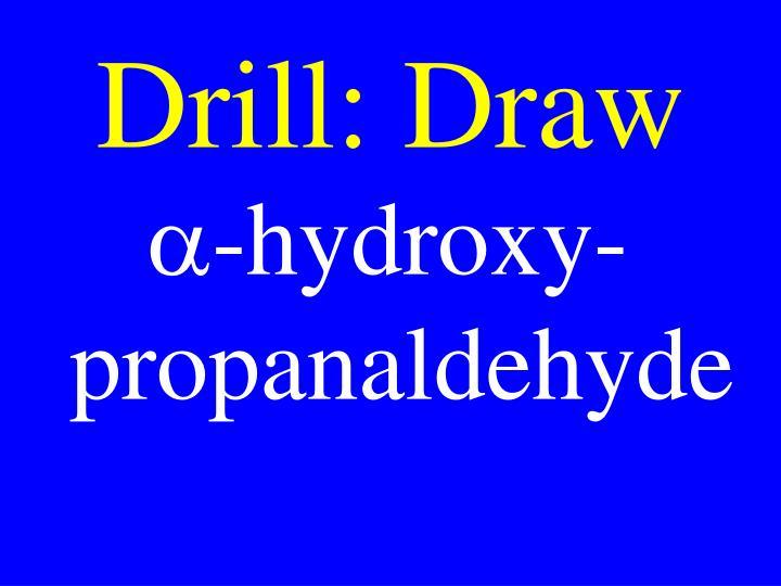 Drill: Draw