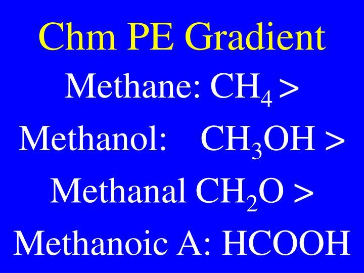 Chm PE Gradient