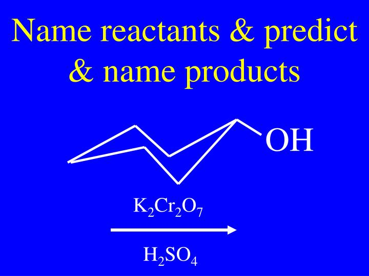 Name reactants & predict & name products