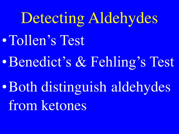Detecting Aldehydes