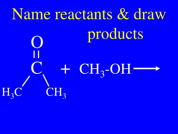 Name reactants & draw
