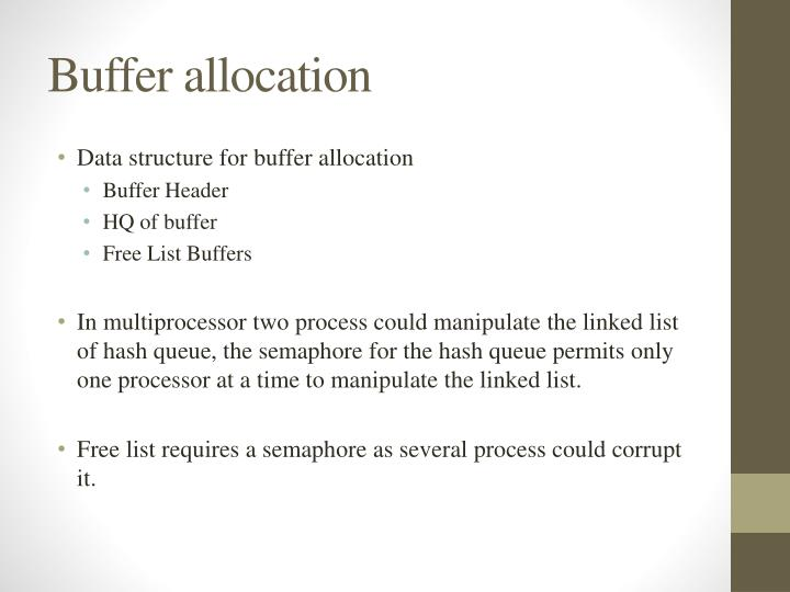 Buffer allocation