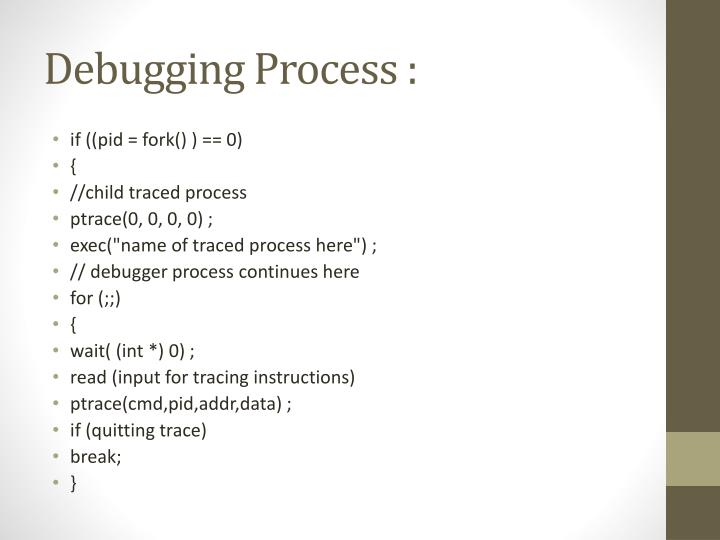 Debugging Process :