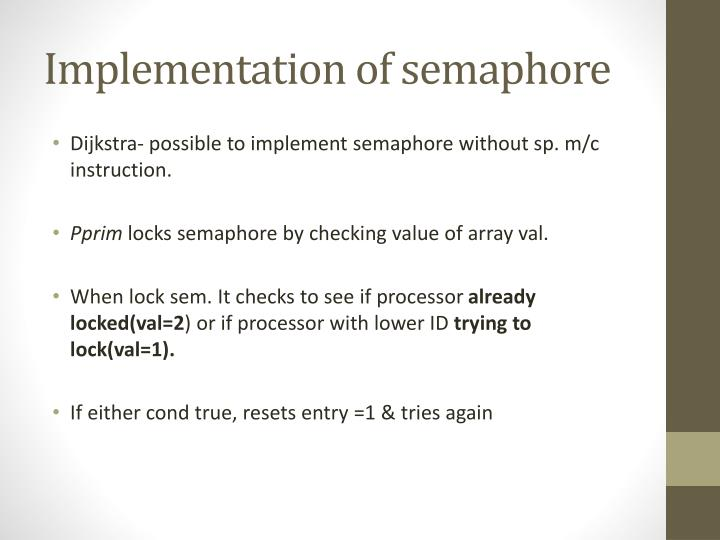 Implementation of semaphore