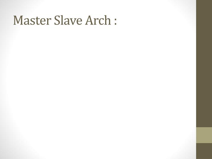 Master Slave Arch :