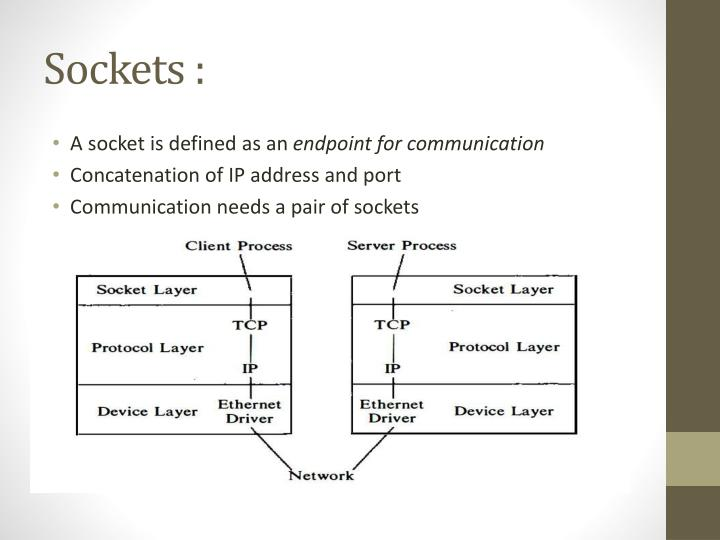 Sockets :
