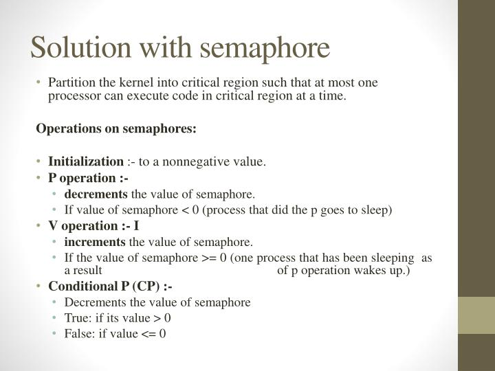Solution with semaphore
