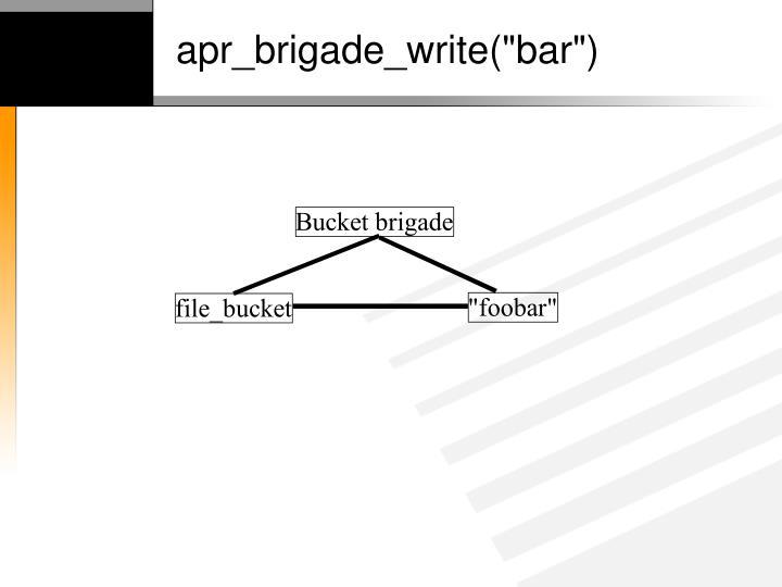 """apr_brigade_write(""""bar"""")"""