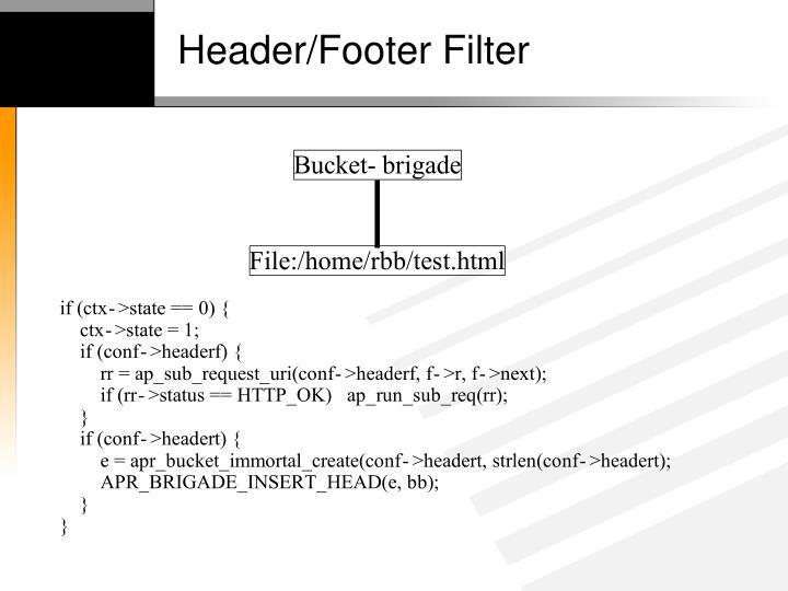 Header/Footer Filter