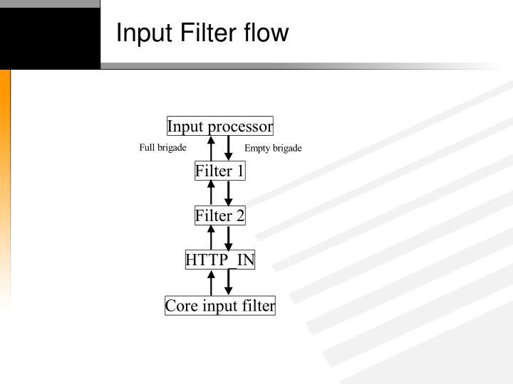 Input Filter flow