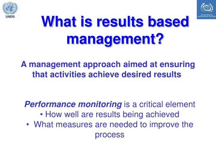 What is results based management?