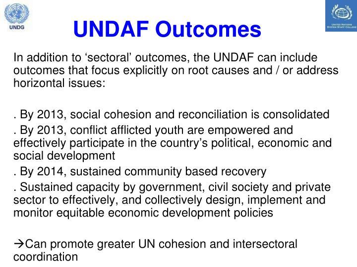 UNDAF Outcomes
