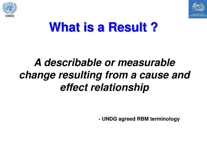What is a Result ?