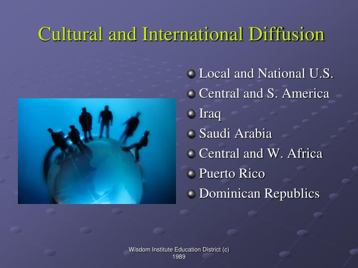Cultural and International Diffusion