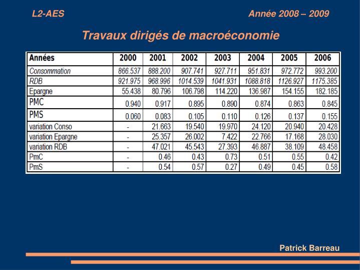 L2-AES                                                                          Année 2008 – 2009