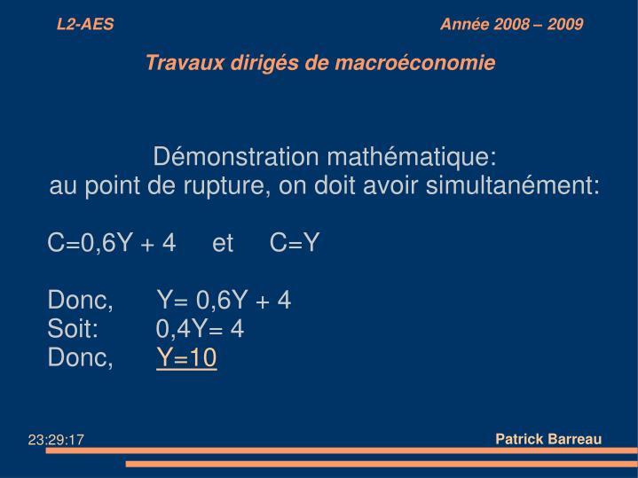 Démonstration mathématique: