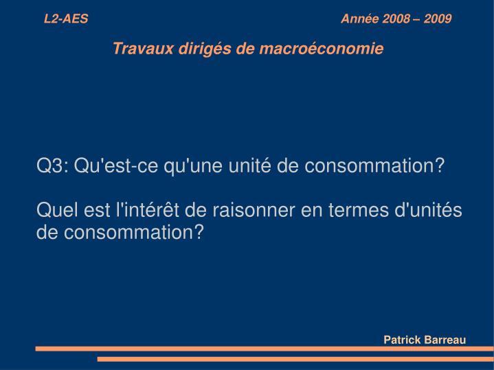 Q3: Qu'est-ce qu'une unité de consommation?