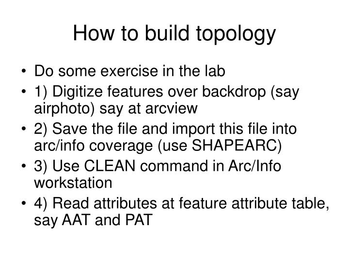 How to build topology