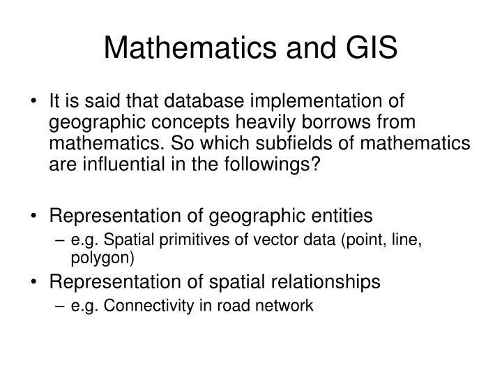 Mathematics and GIS