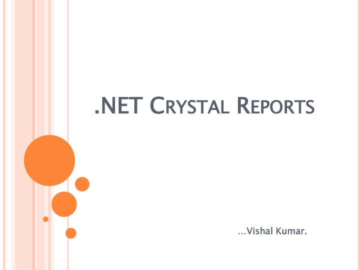 Net crystal reports