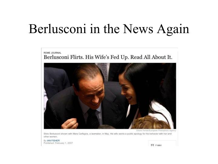 Berlusconi in the News Again