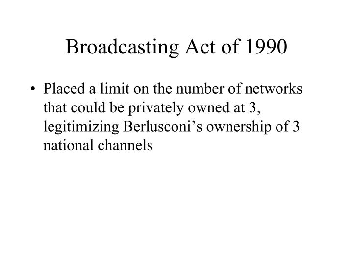 Broadcasting Act of 1990
