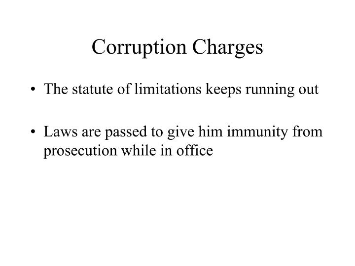 Corruption Charges