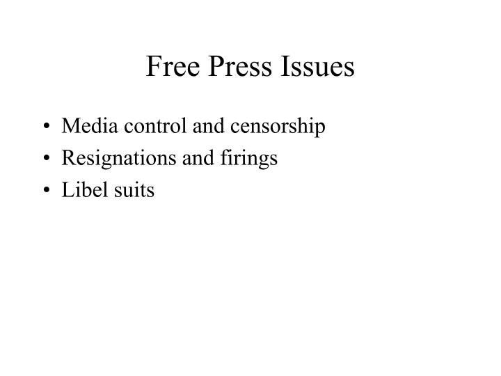 Free Press Issues
