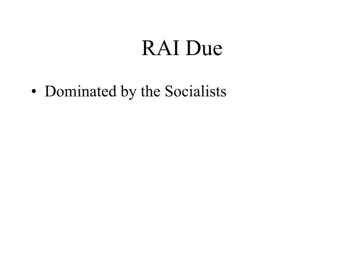 RAI Due