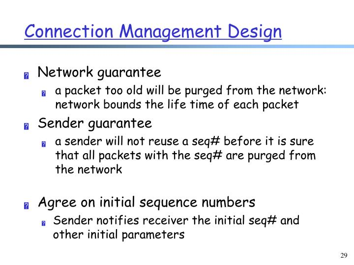 Connection Management Design