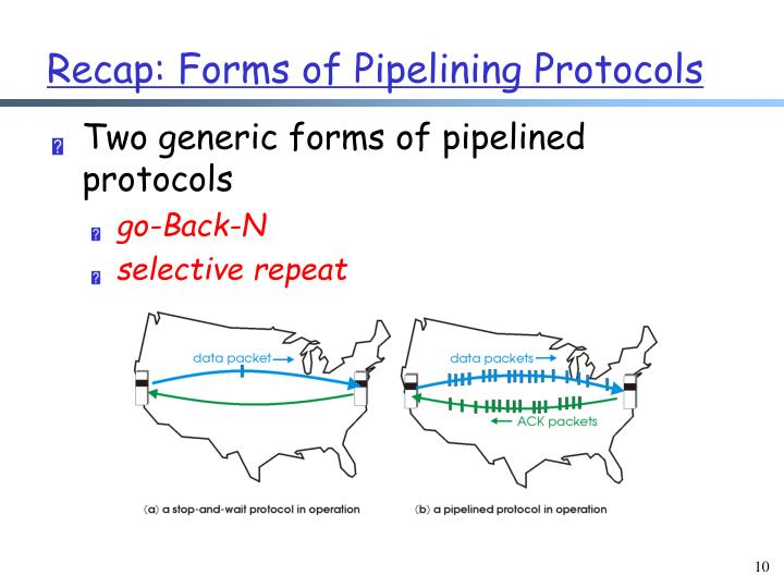 Two generic forms of pipelined protocols