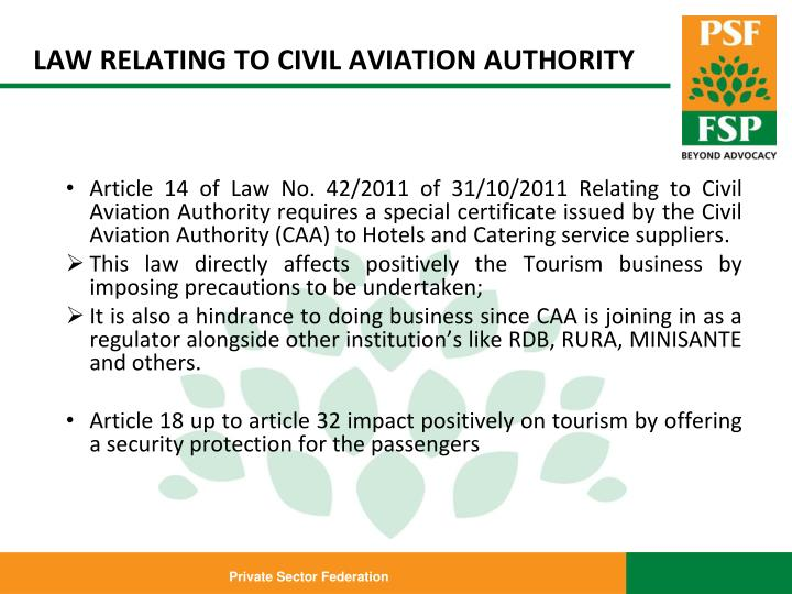 LAW RELATING TO CIVIL AVIATION AUTHORITY