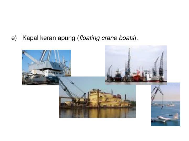Kapal keran apung (