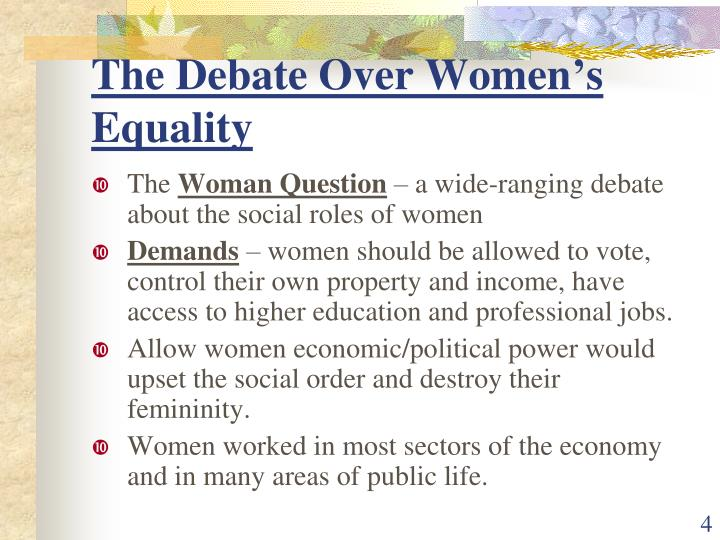 The Debate Over Women's Equality