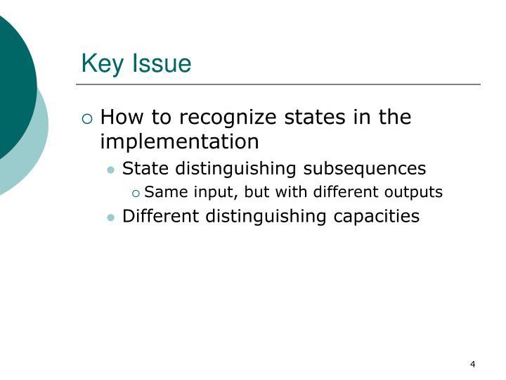 Key Issue