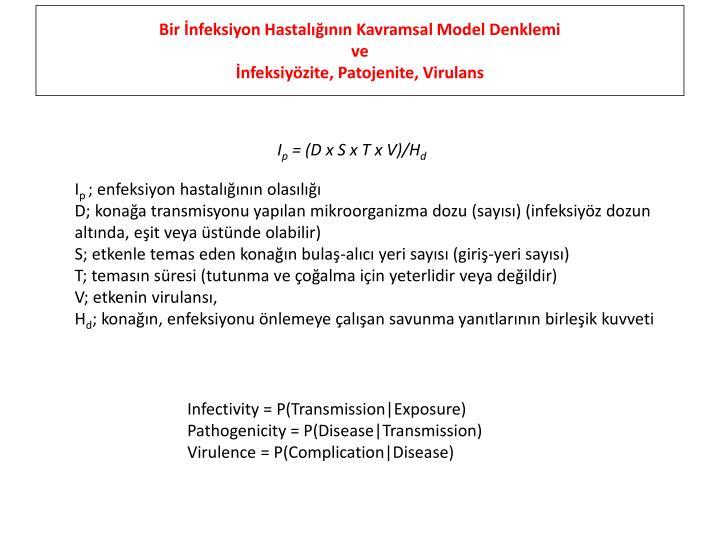 Bir İnfeksiyon Hastalığının Kavramsal Model Denklemi
