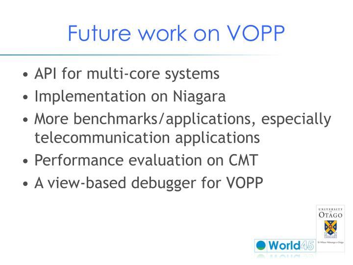 Future work on VOPP