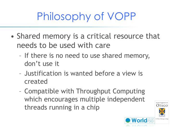 Philosophy of VOPP