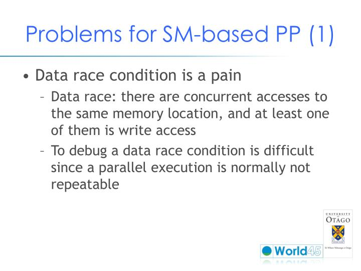 Problems for SM-based PP (1)