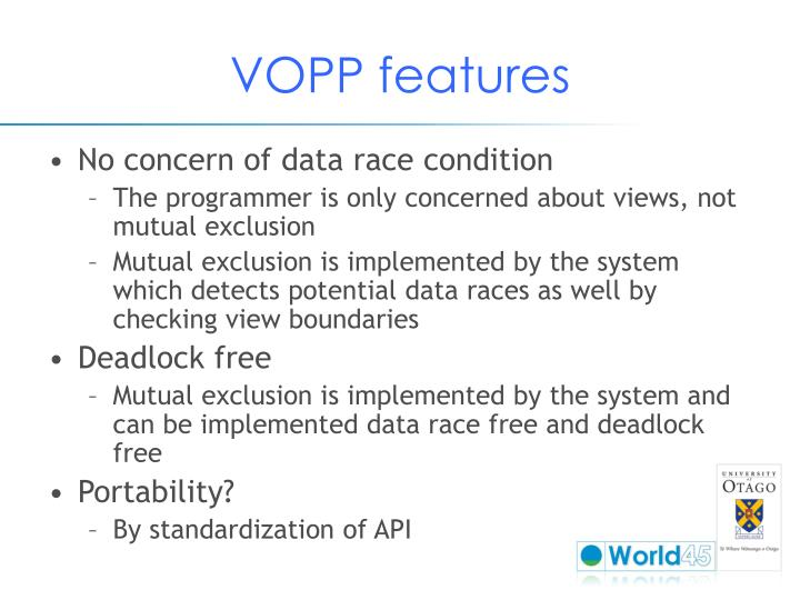 VOPP features